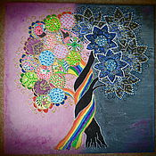"""Картины и панно ручной работы. Ярмарка Мастеров - ручная работа Картина- панно на холсте """"Дерево познания добра и зла"""". Handmade."""