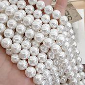 Материалы для творчества handmade. Livemaster - original item Pearl Majorca beads 10 mm white (2923). Handmade.
