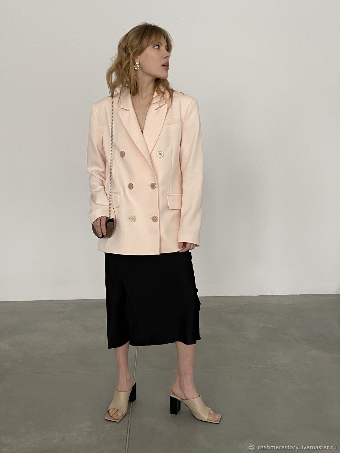 Double-breasted jacket in a peach color, Jackets, Moscow,  Фото №1