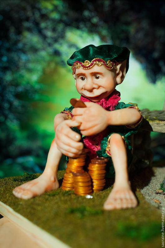 Коллекционные куклы ручной работы. Ярмарка Мастеров - ручная работа. Купить Тролль Делжерон у моста. Handmade. Тёмно-зелёный, пастель