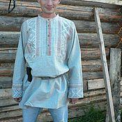 Одежда ручной работы. Ярмарка Мастеров - ручная работа мужская рубаха Славянин. Handmade.