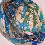 Scarves handmade. Livemaster - original item Birch . Batik scarf . Natural silk. Handmade.