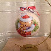 Подарки к праздникам ручной работы. Ярмарка Мастеров - ручная работа Елочный шар новогодний большой. Handmade.