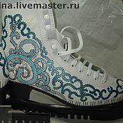 Обувь ручной работы. Ярмарка Мастеров - ручная работа роспись коньков под гипюр. Handmade.