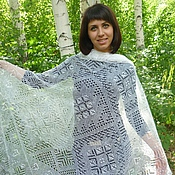 Аксессуары handmade. Livemaster - original item 124 the downy shawl, Orenburg shawl,accessories. Handmade.