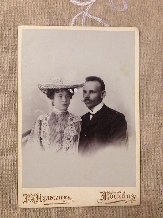 Винтажные предметы интерьера. Ярмарка Мастеров - ручная работа. Купить Старое фото молодой пары. Handmade. Чёрно-белый, фотография