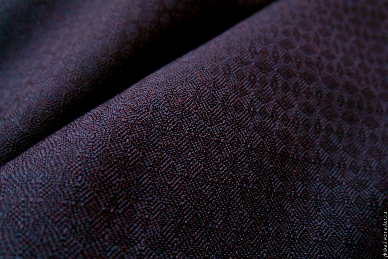 Wool with lavsan 'Bitter chocolate', Fabric, Voronezh,  Фото №1