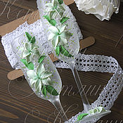 Свадебный салон ручной работы. Ярмарка Мастеров - ручная работа Бокалы с лилиями. Handmade.