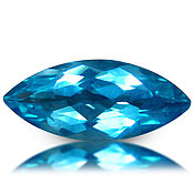Материалы для творчества handmade. Livemaster - original item Neon Apatite 12.2 x 5.3 mm; of 1,53 ct. Handmade.