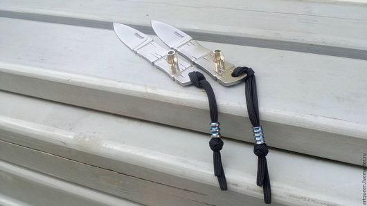 """Оружие ручной работы. Ярмарка Мастеров - ручная работа. Купить Нож Shokuroff """"БАМБУК"""" + темляк (бусина из титана). Handmade."""