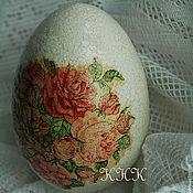 """Подарки к праздникам ручной работы. Ярмарка Мастеров - ручная работа Яйцо """"Розы"""". Handmade."""