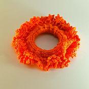 Украшения ручной работы. Ярмарка Мастеров - ручная работа Заколка цвета бешеной морковки. Handmade.