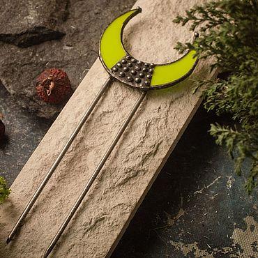 Украшения ручной работы. Ярмарка Мастеров - ручная работа Заколка для волос-  Лимонно-желтый гребень. Handmade.