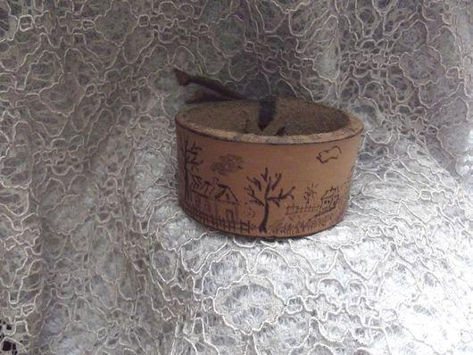 Браслеты ручной работы. Ярмарка Мастеров - ручная работа. Купить Браслет  Осень в деревне. Handmade. Кожа, браслеты, бежевый