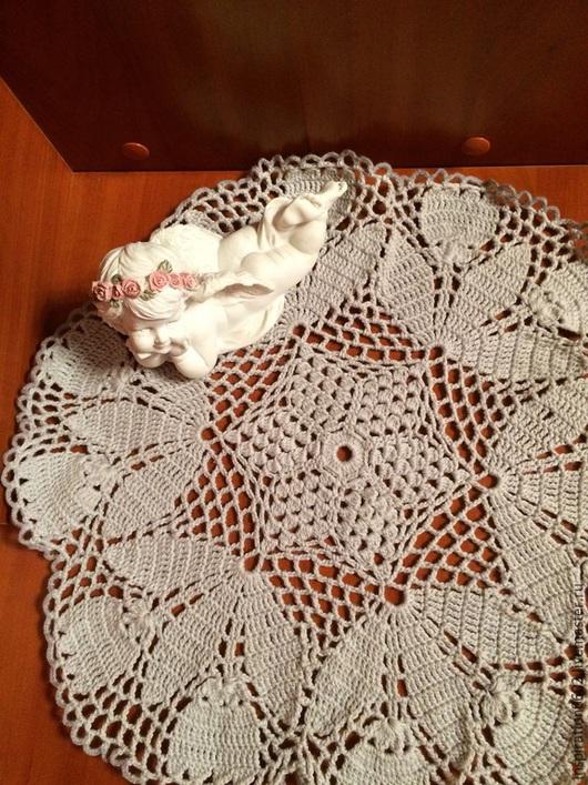 Текстиль, ковры ручной работы. Ярмарка Мастеров - ручная работа. Купить Салфетка. Handmade. Серый, салфетка крючком, хлопок