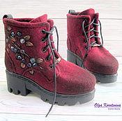 """Валяные ботинки """"Северные ягоды"""""""