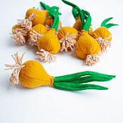 Кукольная еда ручной работы. Ярмарка Мастеров - ручная работа Лук из фетра овощи из фетра. Handmade.