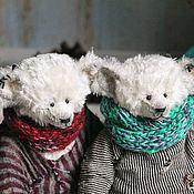 Мишки Тедди ручной работы. Ярмарка Мастеров - ручная работа Тедди мишка, белый. Фокс и Руди.. Handmade.