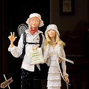 """Куклы и игрушки ручной работы. Ярмарка Мастеров - ручная работа """"Вместе раз и навсегда.. и в Токио , и в США""""). Handmade."""