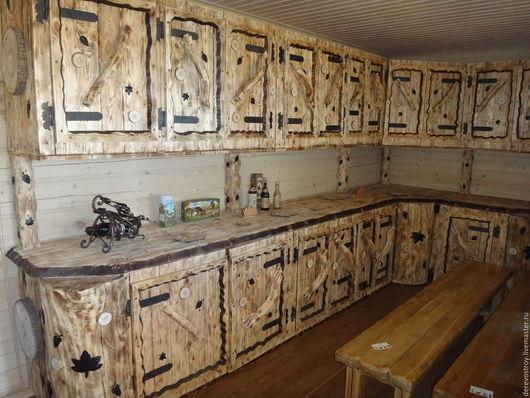 """Мебель ручной работы. Ярмарка Мастеров - ручная работа. Купить Кухня под старину """"Анастасия"""". Handmade. Коричневый, мебель для дачи"""