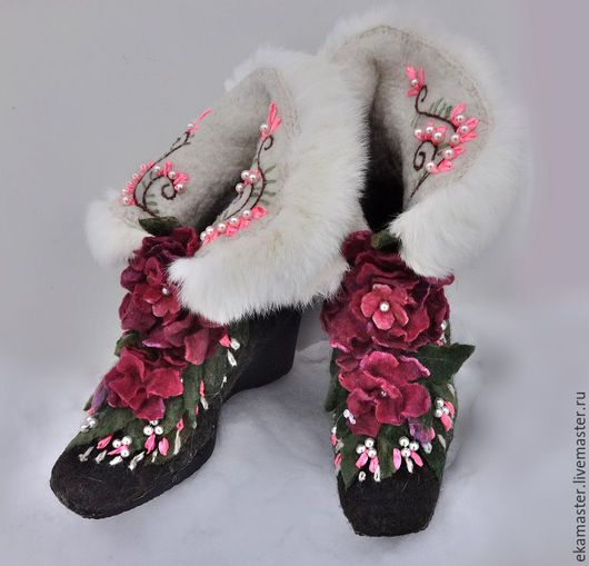"""Обувь ручной работы. Ярмарка Мастеров - ручная работа. Купить Сапожки валяные """"Маргарита"""". Handmade. Сапожки, валенки ручной валки"""