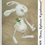 """Материалы для творчества ручной работы. Ярмарка Мастеров - ручная работа Мастер-класс """"Заяц Бублик Кулебякин"""" (описание вязания). Handmade."""