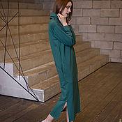 Одежда ручной работы. Ярмарка Мастеров - ручная работа Платье длинное зеленое. Handmade.
