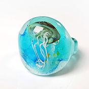 Украшения handmade. Livemaster - original item Glass ring