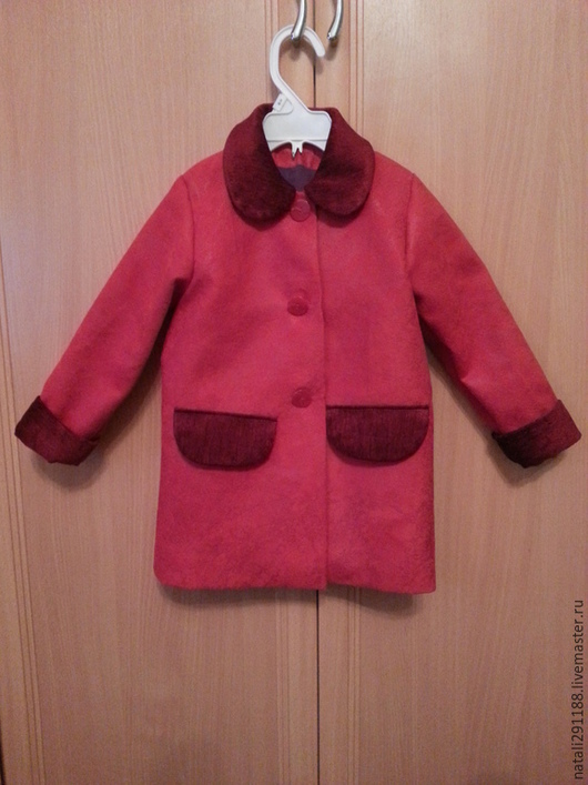 Одежда для девочек, ручной работы. Ярмарка Мастеров - ручная работа. Купить детское пальто. Handmade. Бежевый, Пальтовые ткани