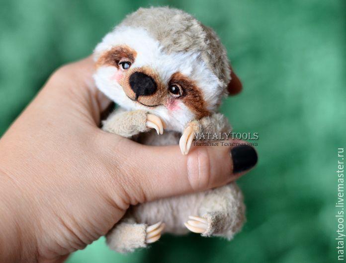 Baby Sloth toy OOAK handmade teddy sloth, Teddy Toys, Kurgan,  Фото №1