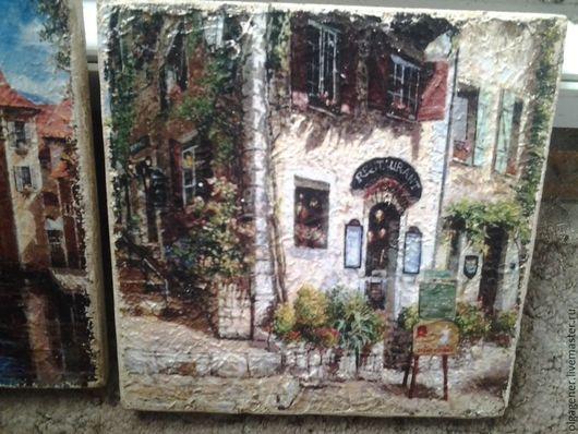 Город ручной работы. Ярмарка Мастеров - ручная работа. Купить Панно деревянное 20 х 20_ №4. Handmade. Постер