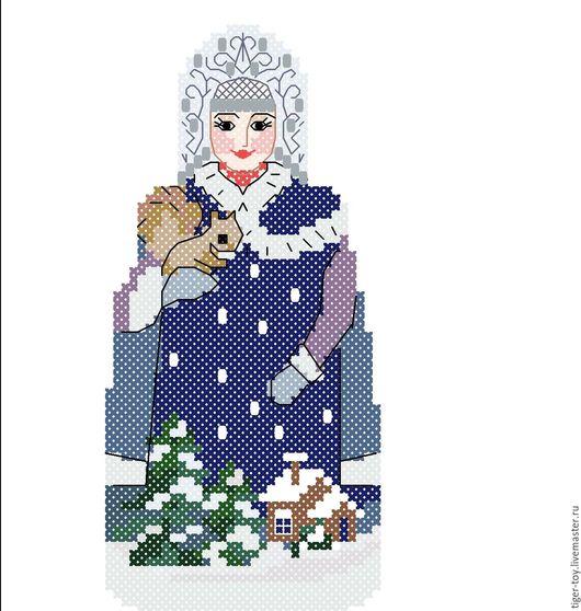 """Новый год 2017 ручной работы. Ярмарка Мастеров - ручная работа. Купить елочная игрушка """"Снегурочка"""". Handmade. Разноцветный, снегурочка"""