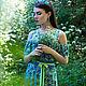 """Платья ручной работы. Платье """"Legend. Wildflowers"""". Anna Paromskaya. Ярмарка Мастеров. Длинное платье, Коктейльное платье, Джинсовая ткань"""