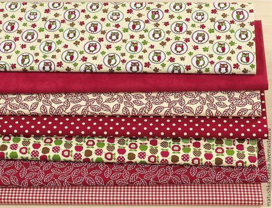 """Шитье ручной работы. Ярмарка Мастеров - ручная работа. Купить Германия Новый год """"Осенний лес"""" тканей для тильды,. Handmade."""