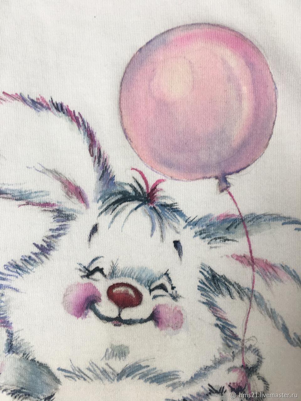 Майка, ручная роспись красками по ткани