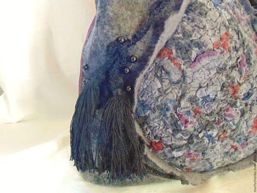 Женские сумки ручной работы. Ярмарка Мастеров - ручная работа. Купить Валяная сумка. Handmade. Серый, сумка, сумка с декором