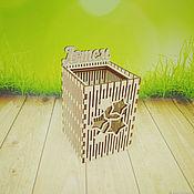 Карандашницы ручной работы. Ярмарка Мастеров - ручная работа Карандашница квадратная именная (без покраски). Handmade.