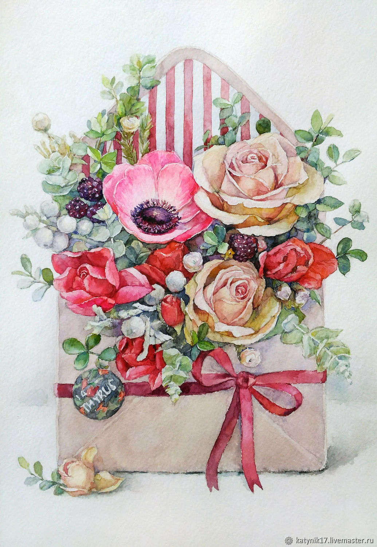 Розовый конверт, Картины, Чебоксары,  Фото №1