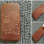 Чехол ручной работы. Ярмарка Мастеров - ручная работа Кожаный чехол для iPhone. Handmade.