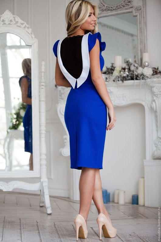 """Платья ручной работы. Ярмарка Мастеров - ручная работа. Купить Платье """"Василиса"""". Handmade. Синий, платье на заказ"""