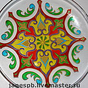 Посуда ручной работы. Ярмарка Мастеров - ручная работа Тарелки с росписью. Handmade.