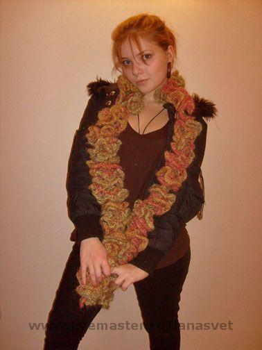 """Шарфы и шарфики ручной работы. Ярмарка Мастеров - ручная работа. Купить Шарф """"Осенний вальс"""". Handmade. Шарф, дизайнерская пряжа"""