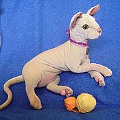 Куклы и игрушки ручной работы. Ярмарка Мастеров - ручная работа кошка сфинкс, Леди Муриэль, реалистичная игрушка. Handmade.