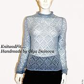 Одежда handmade. Livemaster - original item Blouse openwork mohair.