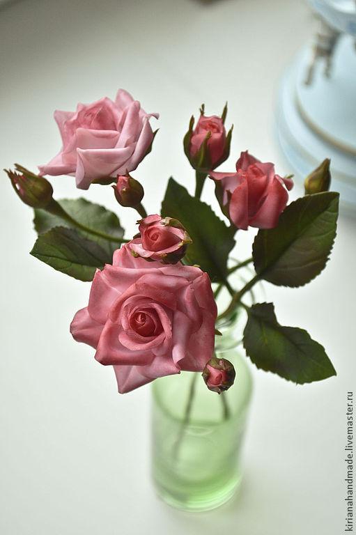 Три веточки кустовой розы, Цветы, Владивосток, Фото №1