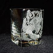 Посуда handmade. Livemaster - original item wolf. Glass.. Handmade.