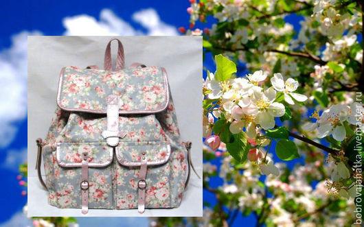 Рюкзаки ручной работы. Ярмарка Мастеров - ручная работа. Купить Школьный непромокаемый рюкзак для подростка Розы шебби Подарок женщине. Handmade.