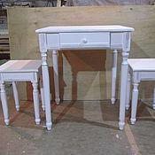 Для дома и интерьера ручной работы. Ярмарка Мастеров - ручная работа кухонный столик с табуретами. Handmade.