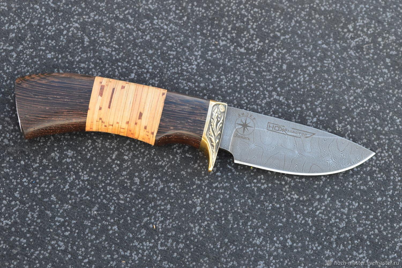 Нож  Барсук-2 дамасск, Ножи, Ворсма,  Фото №1
