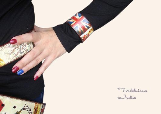 """Браслеты ручной работы. Ярмарка Мастеров - ручная работа. Купить Браслет """"...в стиле Лондон"""". Handmade. Ярко-красный, англия"""